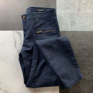 CLUB MONACO Skinny Zip Pant Navy 2 LNUC